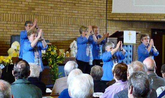 The Albany Church Deaf Choir sing using sign-language
